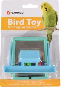 فلامنجو لعبة المرآة المعلقة للطيور