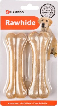 فلامنجو عظام الأسنان البيضاء للكلاب 11.5 سم 2 قطعة