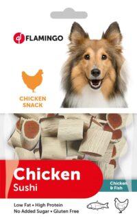 فلامنجو وجبة خفية دجاج للكلاب سوشي 85 جم