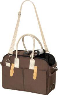 فلامينغو حقيبة حمل بني 37 × 15 × 27 س للقطط