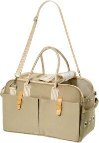 فلامينغو حقيبة حمل بيج 37x15x27 سم للقطط