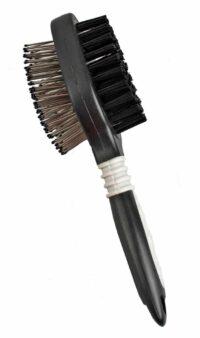 فلامنجو فرشاة للكلاب ذات الشعر الخشن والدبوس + المقبض صغير