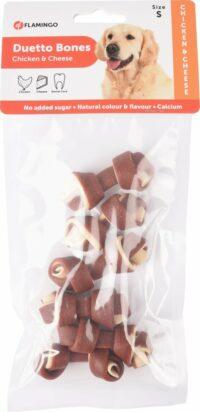 فلامنجو دويتو عظام للكلاب مع دجاج و جبنة – صغير 6 قطع