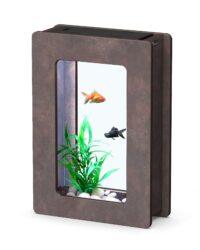 أكوا أتلانتس حوض الاسماك النانو باللون الخشبي 32
