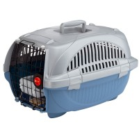 فيربلاست قفص متنقل لحمل القطط والكلاب 37.4 * 57.6 * 33 سم لون ازرق