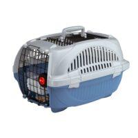 فيربلاست قفص متنقل لحمل القطط والكلاب 34 * 50.7 * 30 سم ازرق