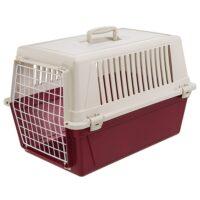 فيربلاست قفص لحمل الحيوانات – أبيض أحمر 40*60 * 38 سم