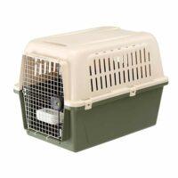 فيربلاست قفص متنقل لحمل القطط والكلاب لون اخضر داكن 55.5 * 81 * 58 سم