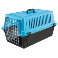 فيربلاست قفص لحمل الحيوانات – أزرق أسود 37 *58 * 32 سم