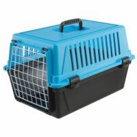 فيربلاست قفص لحمل الحيوانات – أزرق أسود 32.5 * 48 * 29 سم