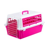 فيربلاست قفص متنقل لحمل القطط والكلاب لون وردي 32.5 * 48 * 29 سم