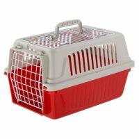 فيربلاست قفص متنقل لحمل القطط والكلاب لون احمر 28 * 41.5 * 26 سم