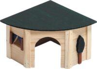 فلامنجو بيت خشبي للارانب 34 × 24 ، 5 × 16 سم