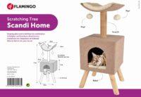 فلامنجو خداشة للقطط من الخشب