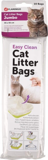 فلامنجو اكياس بلاستيكية لرمل القطط